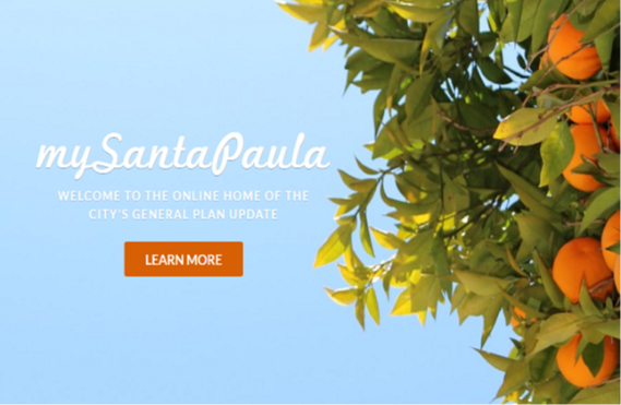mySantaPaula general plan update website landing page screen shot