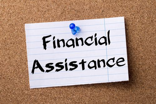 financial assistance pinned notecard